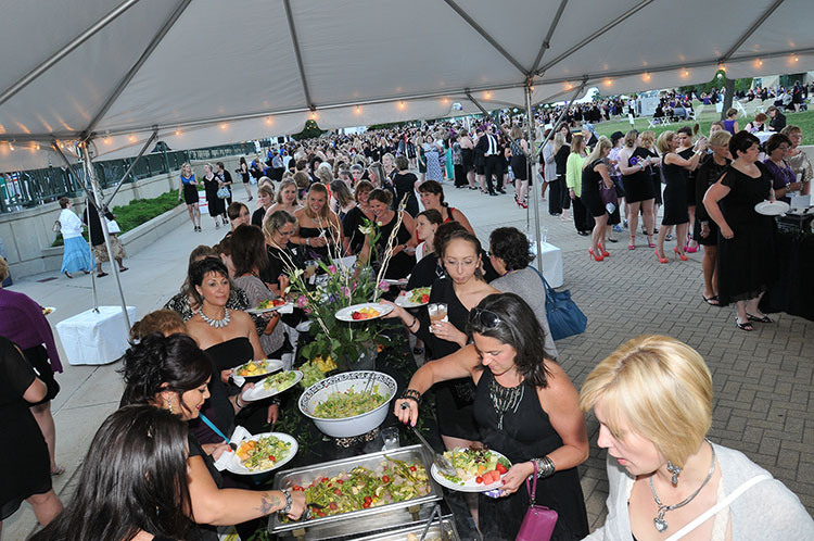 Outdoor Buffet at a Corporate Event